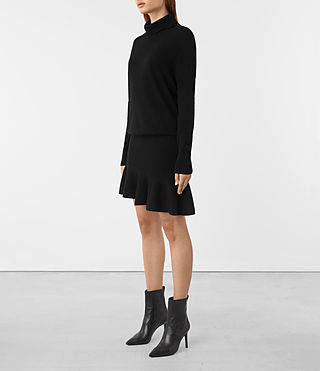 Womens Hava Dress (Black) - product_image_alt_text_3