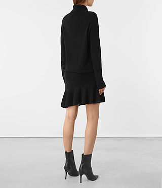 Mujer Hava Dress (Black) - product_image_alt_text_4
