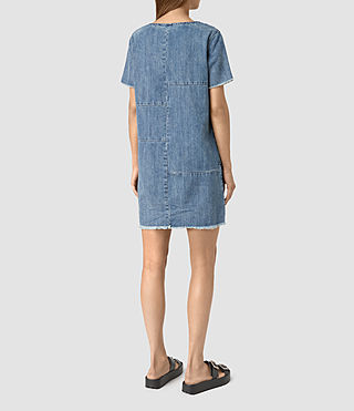 Women's Ann Tonal Denim Dress (Indigo Blue) - product_image_alt_text_4