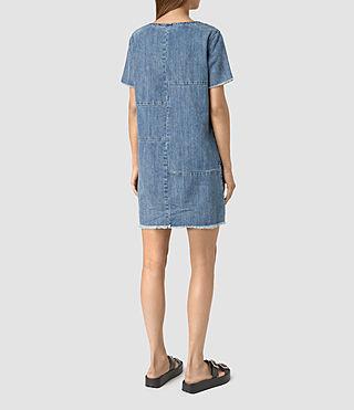 Mujer Ann Tonal Denim Dress (Indigo Blue) - product_image_alt_text_4