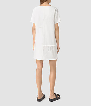 Mujer Ann Tonal White Dress (White) - product_image_alt_text_4