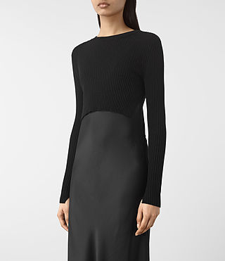Femmes Kowlo Dress (Black) - product_image_alt_text_4