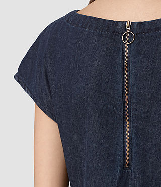 Womens Breeze Denim Dress (DARK INDIGO BLUE) - product_image_alt_text_2