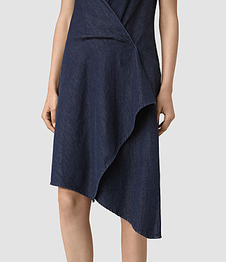 Femmes Breeze Denim Dress (DARK INDIGO BLUE) - product_image_alt_text_3