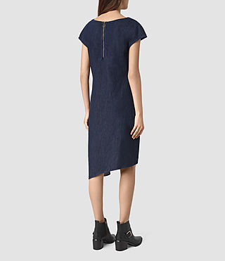 Femmes Breeze Denim Dress (DARK INDIGO BLUE) - product_image_alt_text_5