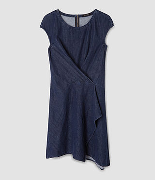 Femmes Breeze Denim Dress (DARK INDIGO BLUE) - product_image_alt_text_6