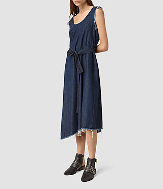 Womens Kayne Denim Dress (DARK INDIGO BLUE)
