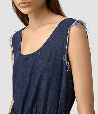 Womens Kayne Dress (DARK INDIGO BLUE) - product_image_alt_text_2