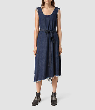 Womens Kayne Dress (DARK INDIGO BLUE) - product_image_alt_text_3