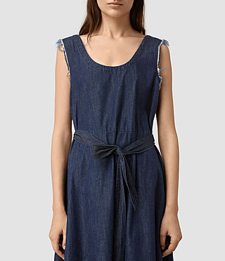 Womens Kayne Dress (DARK INDIGO BLUE) - product_image_alt_text_4