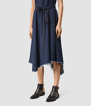 Womens Kayne Dress (DARK INDIGO BLUE) - product_image_alt_text_5