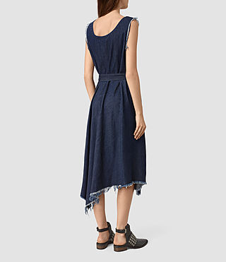 Womens Kayne Dress (DARK INDIGO BLUE) - product_image_alt_text_6