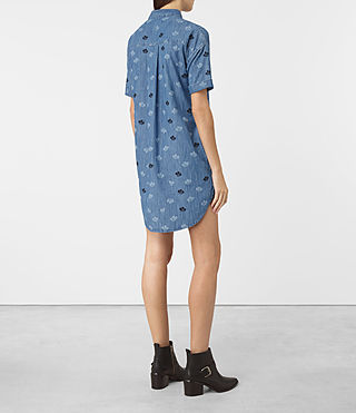 Mujer Daisy Embroidered Dress (MID INDIGO BLUE) - product_image_alt_text_5