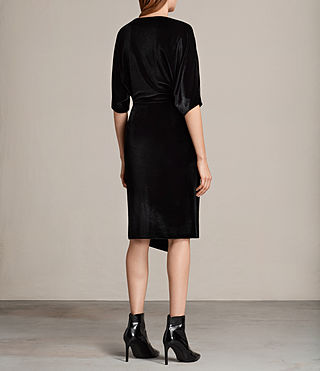 Women's Sina Velvet Dress (Black) - Image 6
