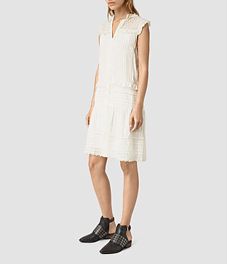 Mujer Jolene Alaw Dress (Chalk White)