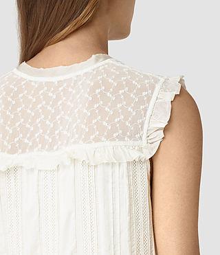 Mujer Jolene Alaw Dress (Chalk White) - product_image_alt_text_2
