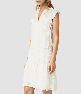 Damen Jolene Alaw Dress (Chalk White) - product_image_alt_text_3
