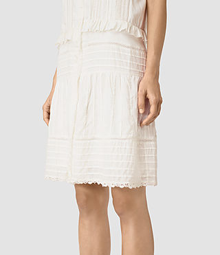 Mujer Jolene Alaw Dress (Chalk White) - product_image_alt_text_4