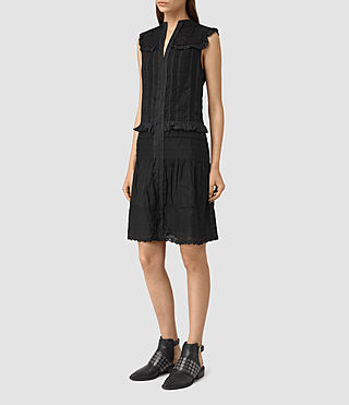 Women's Jolene Alaw Dress (Black) - product_image_alt_text_3