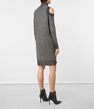 Mujer Cecily Twist Dress (Black/Grey Marl) - product_image_alt_text_2