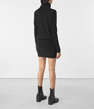 Womens Astrid Dress (Cinder Black) - product_image_alt_text_5