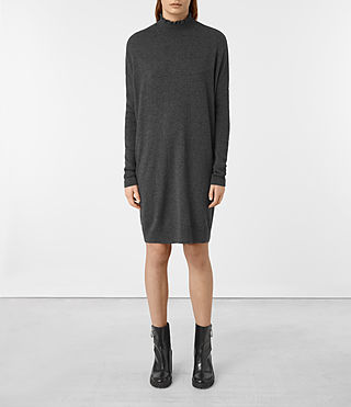 Donne Granville Dress (Charcoal Grey)