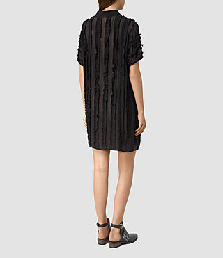 Mujer Emrys Ruffle Shirt Dress (Black) - product_image_alt_text_4