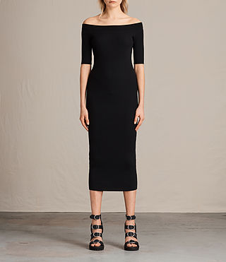 Womens Lavine Dress (Black) - product_image_alt_text_1