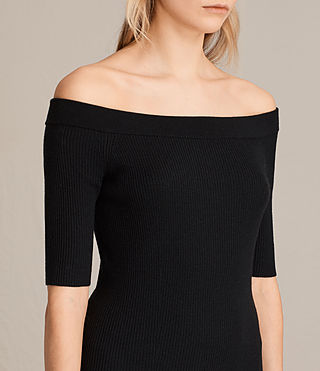 Women's Lavine Dress (Black) - product_image_alt_text_2