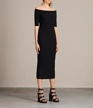 Women's Lavine Dress (Black) - product_image_alt_text_3