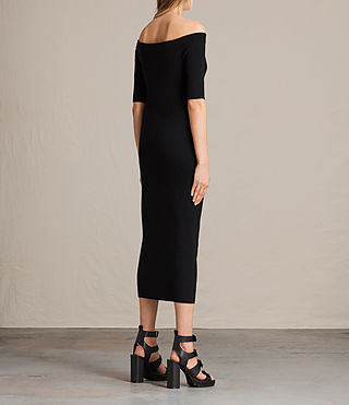 Women's Lavine Dress (Black) - product_image_alt_text_6