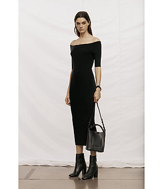 Women's Lavine Dress (Black) - product_image_alt_text_7