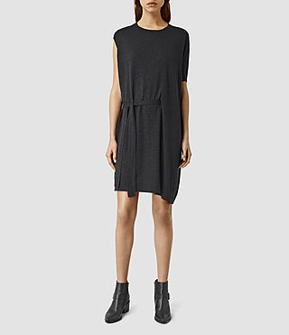 Womens Shera Dress (Cinder Black Marl)