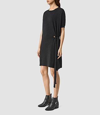 Damen Shera Dress (Cinder Black Marl) - product_image_alt_text_2