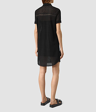Mujer Elsa Short Sleeve Dress (Black) - product_image_alt_text_4