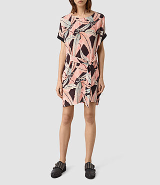 Damen Sonny Fuji Silk Dress (Pink)