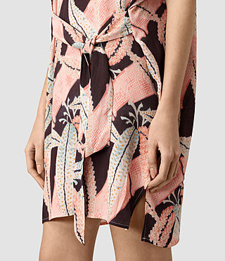 Mujer Sonny Fuji Silk Dress (Pink) - product_image_alt_text_2