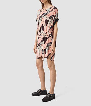 Femmes Sonny Fuji Silk Dress (Pink) - product_image_alt_text_3