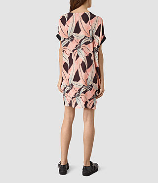 Mujer Sonny Fuji Silk Dress (Pink) - product_image_alt_text_4