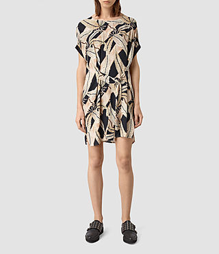 Femmes Sonny Fuji Silk Dress (Black)