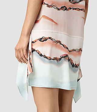 Damen Isha Crystal Silk Dress (Pink) - product_image_alt_text_2
