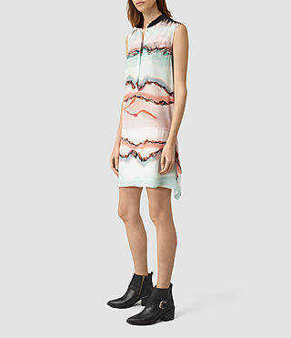 Damen Isha Crystal Silk Dress (Pink) - product_image_alt_text_3