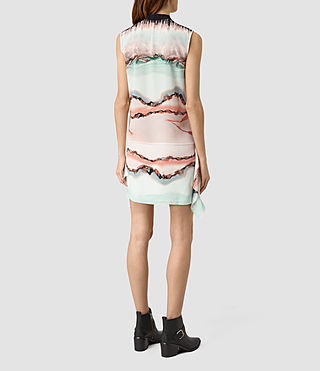 Damen Isha Crystal Silk Dress (Pink) - product_image_alt_text_4