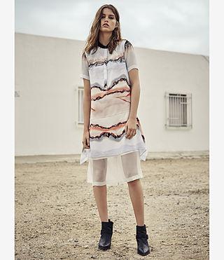Womens Isha Crystal Dress (Pink) - product_image_alt_text_5