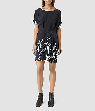 Womens Sonny Tokyo Dress (Ink Blue) - product_image_alt_text_1