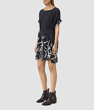 Womens Sonny Tokyo Dress (Ink Blue) - product_image_alt_text_3