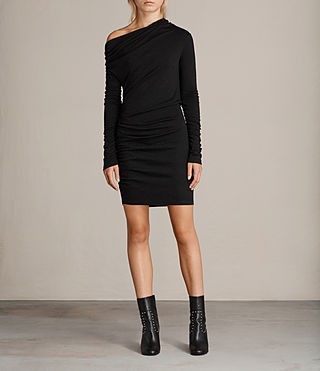 Womens Brisa Dress (Black) - Image 1