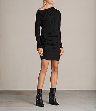 Womens Brisa Dress (Black) - Image 3