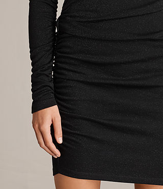 Womens Brisa Dress (Black) - Image 4