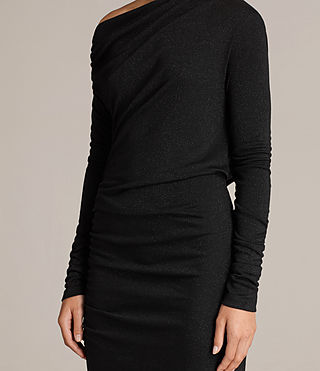 Womens Brisa Dress (Black) - Image 6